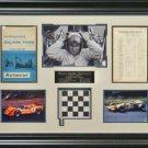 Bruce McLaren Autographed Framed Display