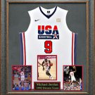 Michael Jordan Autographed Jersey Framed