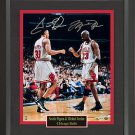 Michael Jordan & Scottie Pippen Signed Photo Framed