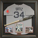 David Ortiz Autographed Bat Collage