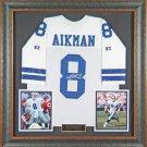 Troy Aikman Autographed Jersey Framed