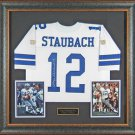 Roger Staubach Autographed Jersey Framed