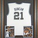 Tim Duncan Autographed Jersey Framed