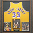 Kareem Abdul Jabbar Autographed Jersey Framed