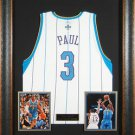 Chris Paul Autographed Jersey Framed