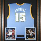 Carmelo Anthony Autographed Jersey framed