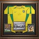 Pele Autographed Jersey Framed