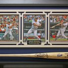 Jorge Posada Signed Bat Collage Framed