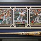 Jorge Posada Signed Bat Collage Framed