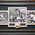 Sandy Koufax Signed Baseball Collage Framed