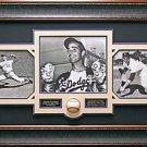 Sandy Koufax Signed Baseball Collage Framed