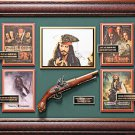 Johnny Depp Signed Pirates of the Caribbean Collage Framed