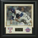 Nolan Ryan vs Robin Ventura Signed The Fight Photo Display.