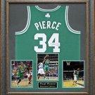 Paul Pierce Autographed Boston Celtic Framed Jersey