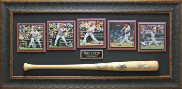 Joey Votto Autographed Baseball Bat Framed