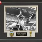 Diego Maradona Signed Cleat Framed