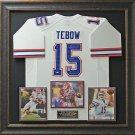 Tim Tebow Signed Florida Gators Jersey Framed