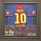Lionel Messi Autographed FC Barcelona Jersey Framed