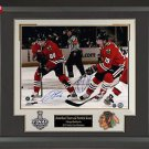Patrick Kane and Jonathan Toews Signed Photo Framed
