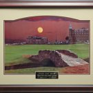 Moon Over St Andrews Signed Photo Framed
