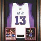 Steve Nash Signed Jersey Framed