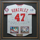 Gio Gonzalez 2012 Team Signed All-Star Jersey Framed Display.