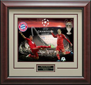Bayern Munich Wins Champions League Framed Photo