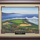 Pebble Beach Hole #7 Photo Framed