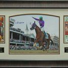 Victor Espinoza Signed California Chrome Kentucky Derby Photo Display
