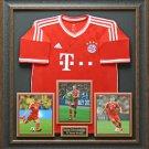 Bastian Schweinsteiger Bayern Munich Signed Jersey Display.