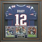 Tom Brady Signed Patriots Jersey Display.