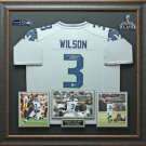 Russell Wilson Signed Seattle Seahawks Jersey Display.