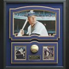 Mickey Mantle Signed Baseball Framed Display.