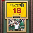 Phil Mickelson 2013 British Open Champion Flag Framed