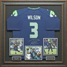 Russell Wilson Signed Seattle Seahawks Jersey Framed