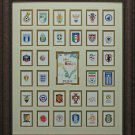 2014 Brazil World Cup Poster With Team Logos Framed Display
