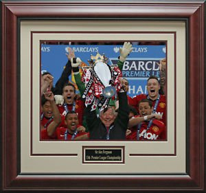 Alex Ferguson's 2013 Premier League Champion Framed Photo