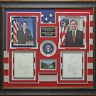 Ronald Reagan & George Bush Signed Presidential Display