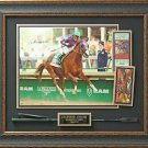Victor Espinoza Signed California Chrome Derby Photo Display.