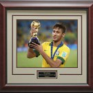 Neymar Brazil Confederations Cup Champion Framed Photo