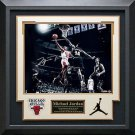 Michael Jordan Signed Chicago Bulls Photo Display LE of 123.