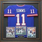 Phil Simms Autographed Jersey Framed