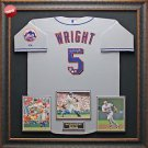 David Wright Autographed Jersey Framed