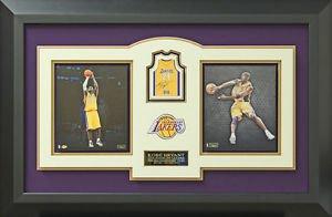 Kobe Bryant Signed Los Angeles Lakers Panini Basketball Card Display