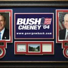 George W Bush and Dick Cheney Signed Bookplate Display.