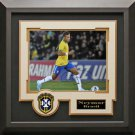 Neymar Signed Brazil Photo Framed
