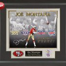 Joe Montana Signed San Francisco 49ers Photo Framed