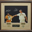 Larry Bird & Magic Johnson Signed Photo Framed