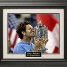 Roger Federer US Open 16x20 Photo Framed