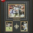 Drew Brees Autographed New Orleans Saints Photo Framed